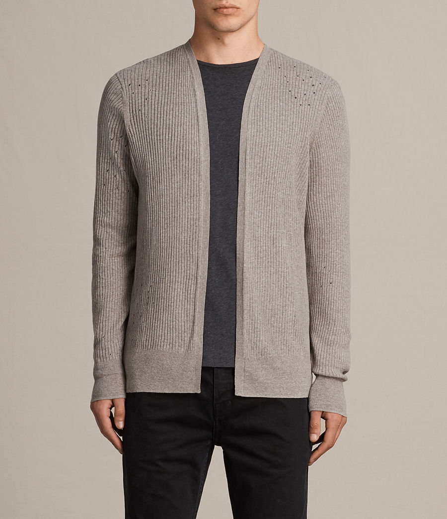 Hommes Cardigan Jace (putty_grey_marl) - Image 1
