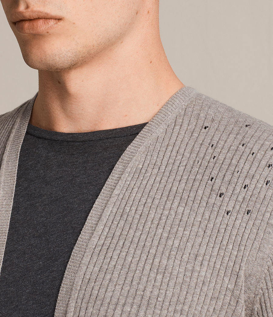 Hommes Cardigan Jace (putty_grey_marl) - Image 2