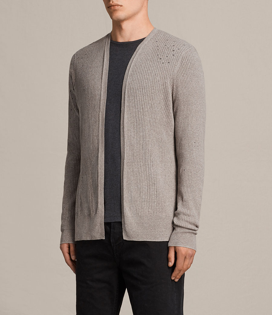 Hommes Cardigan Jace (putty_grey_marl) - Image 3
