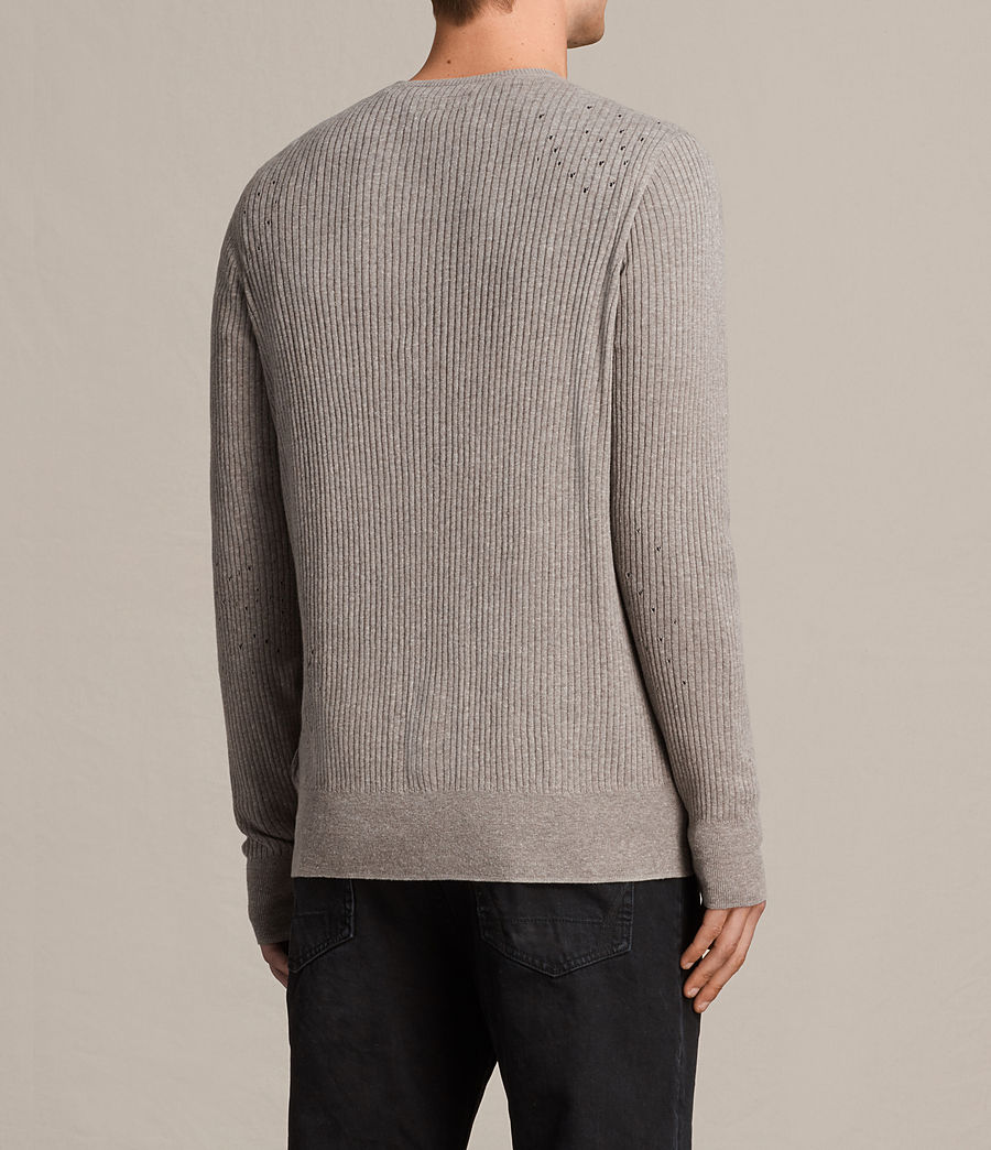 Hommes Cardigan Jace (putty_grey_marl) - Image 4