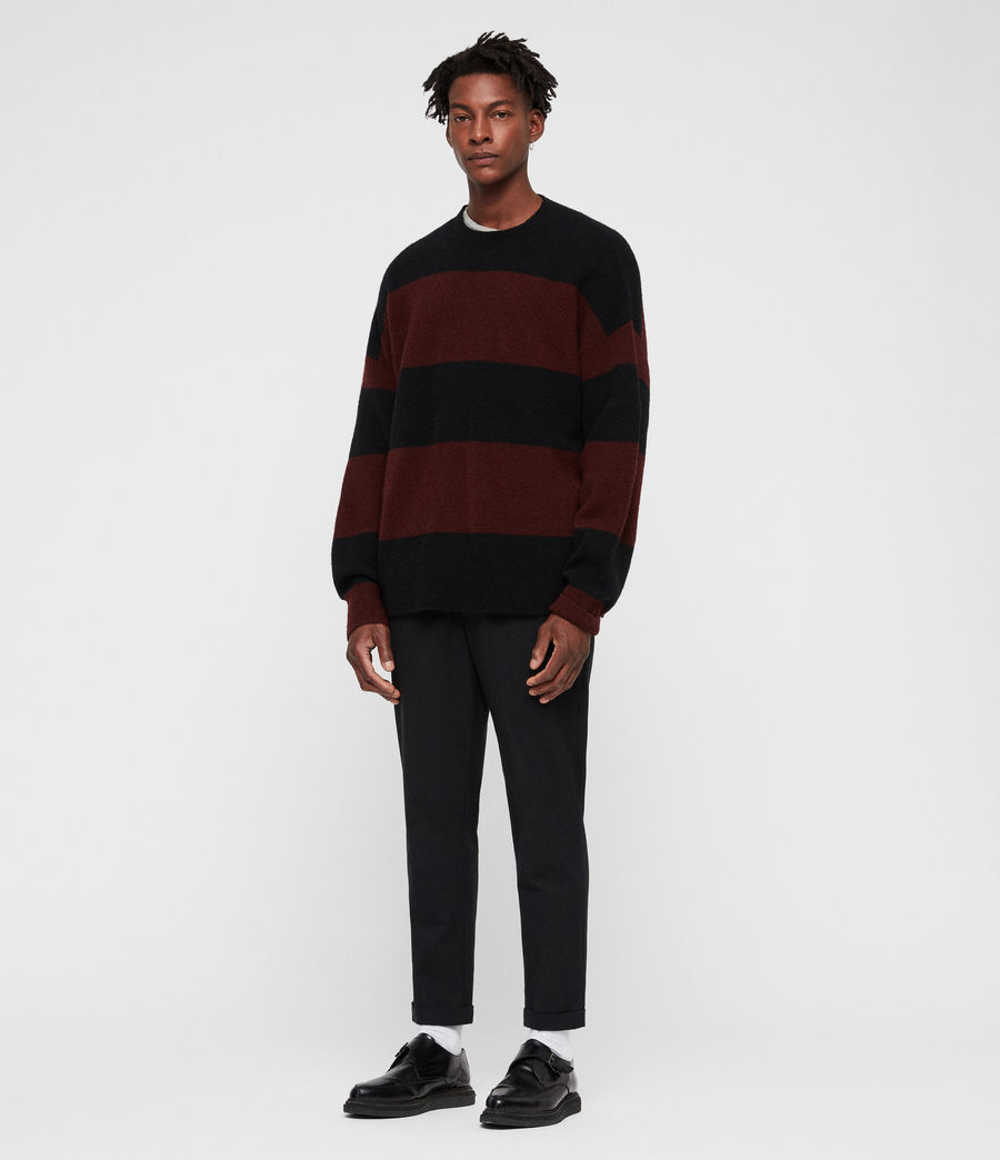 Mens Maire Crew Sweater (black_rust_red) - Image 1
