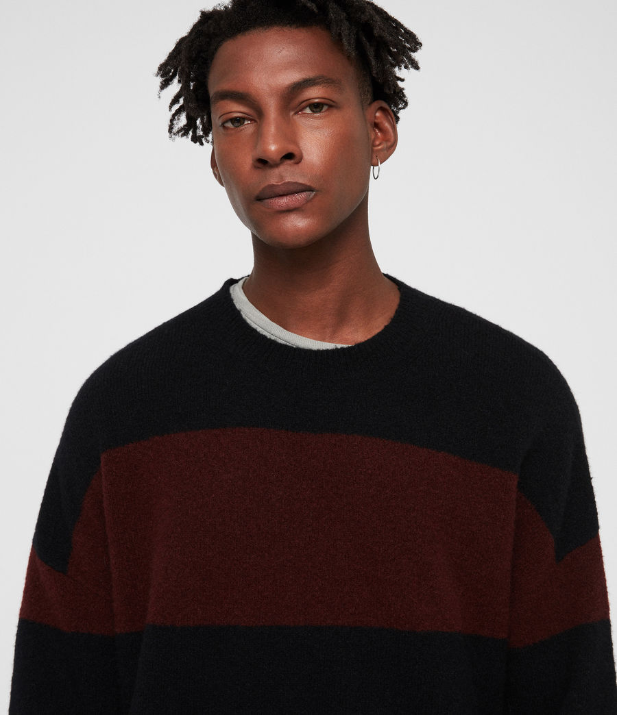 Men's Maire Crew Jumper (black_rust_red) - Image 2