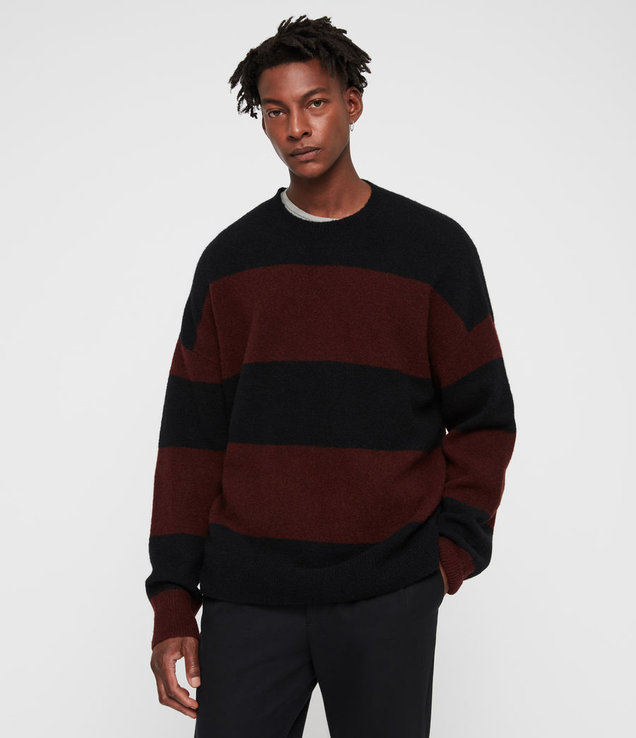 Mens Maire Crew Sweater (black_rust_red) - Image 3