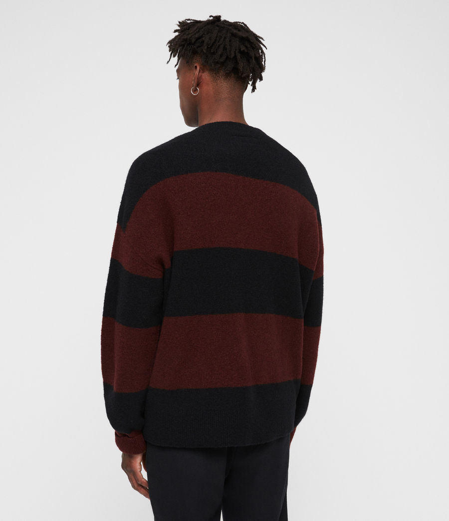Men's Maire Crew Jumper (black_rust_red) - Image 4