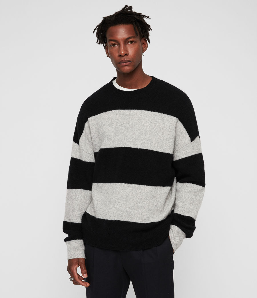 Men's Maire Crew Jumper (black_light_grey) - Image 1
