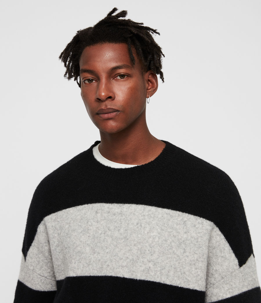 Men's Maire Crew Jumper (black_light_grey) - Image 2