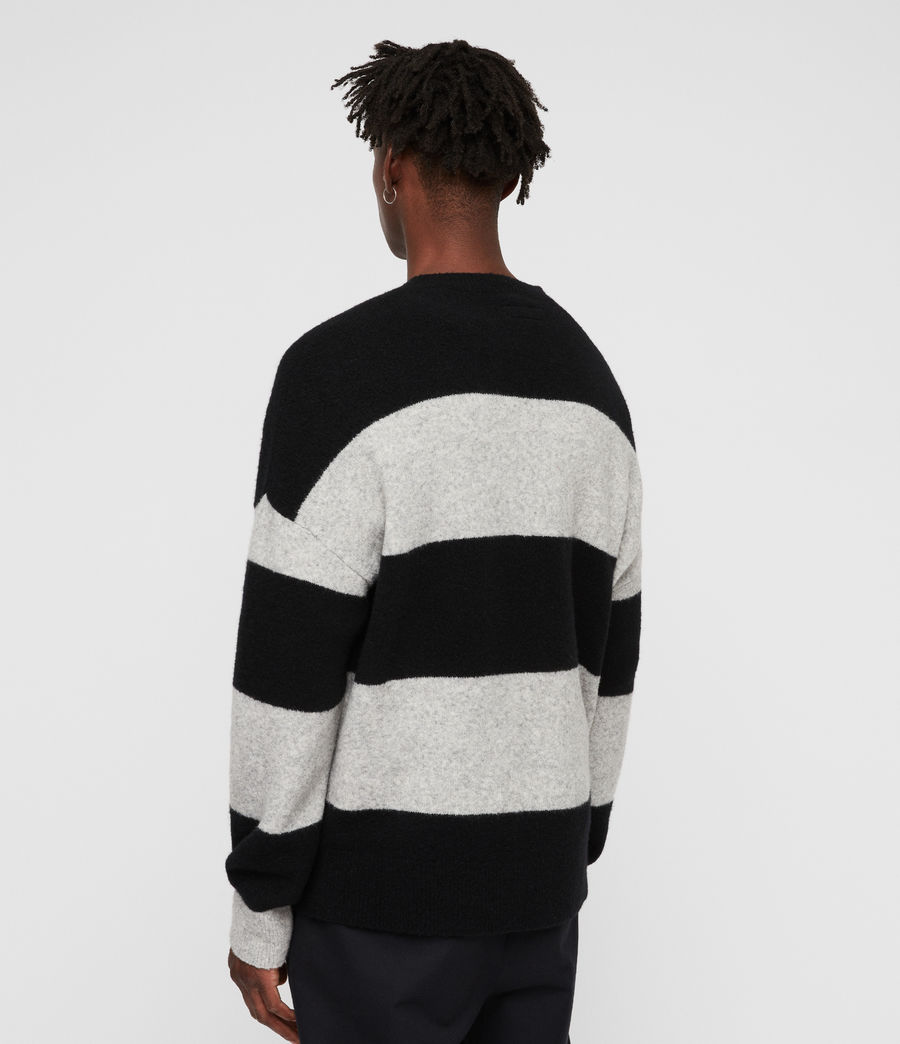 Men's Maire Crew Jumper (black_light_grey) - Image 4