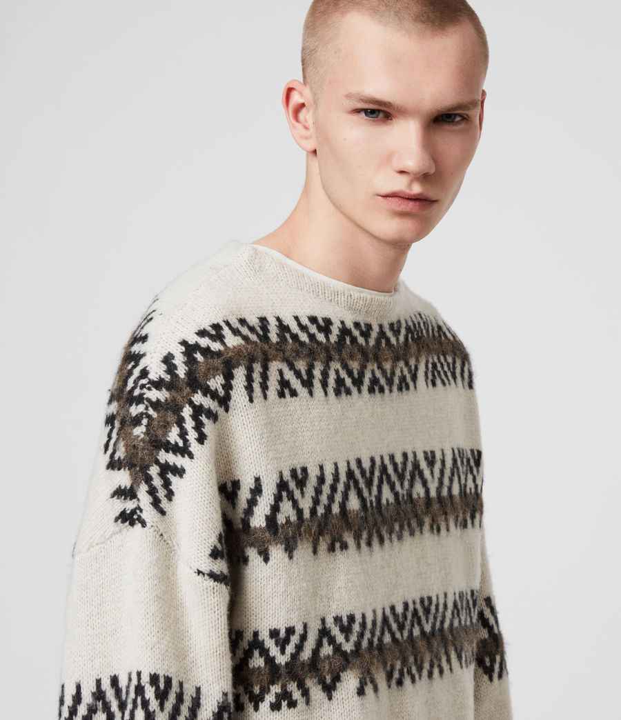 Mens Orvik Crew Sweater (ecru_black) - Image 2