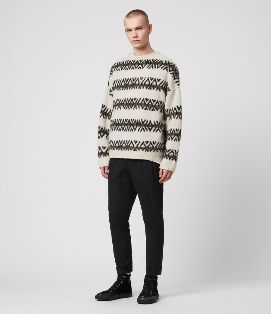 Mens Orvik Crew Sweater (ecru_black) - Image 3