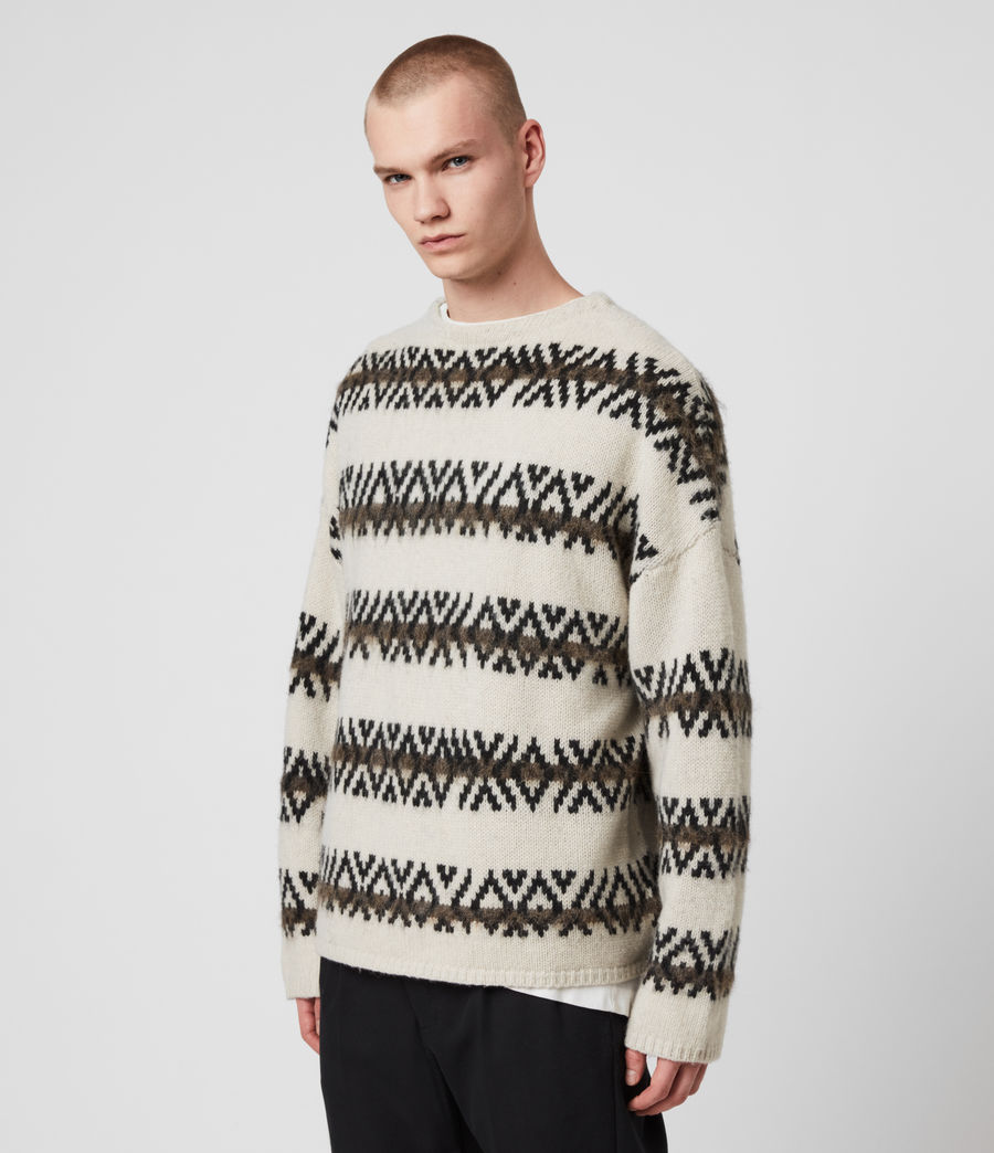 Mens Orvik Crew Sweater (ecru_black) - Image 4