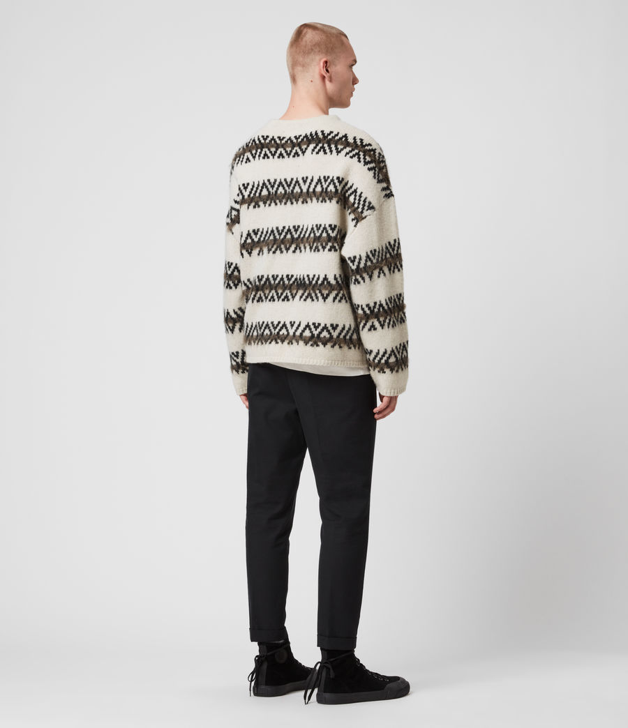 Mens Orvik Crew Sweater (ecru_black) - Image 5