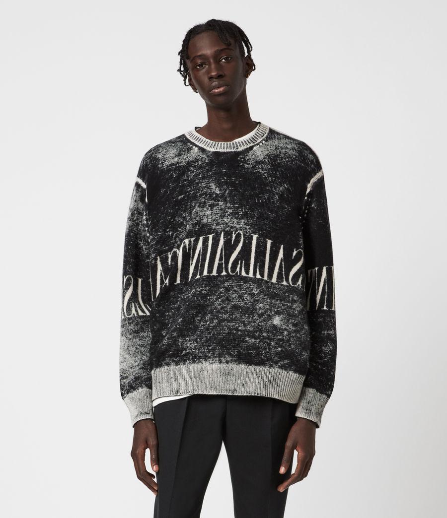 Mens Print Saints Reversible Crew Sweater (black) - Image 1