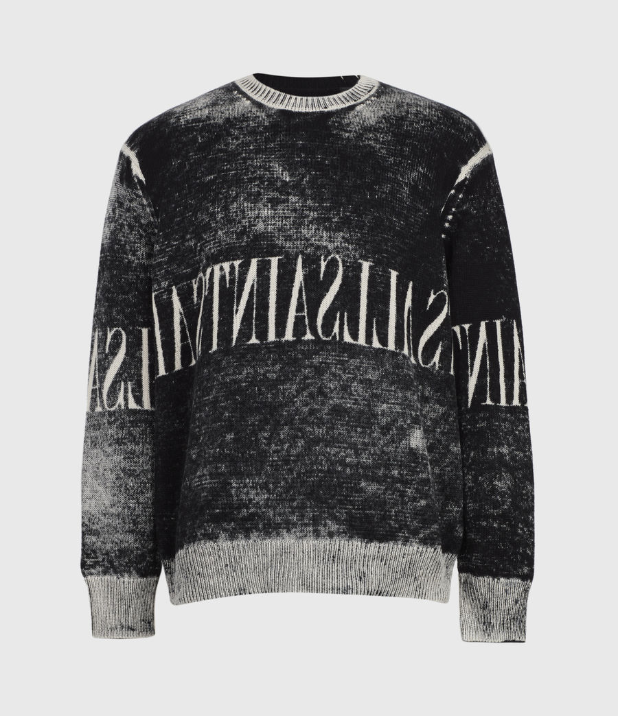 Mens Print Saints Reversible Crew Sweater (black) - Image 2