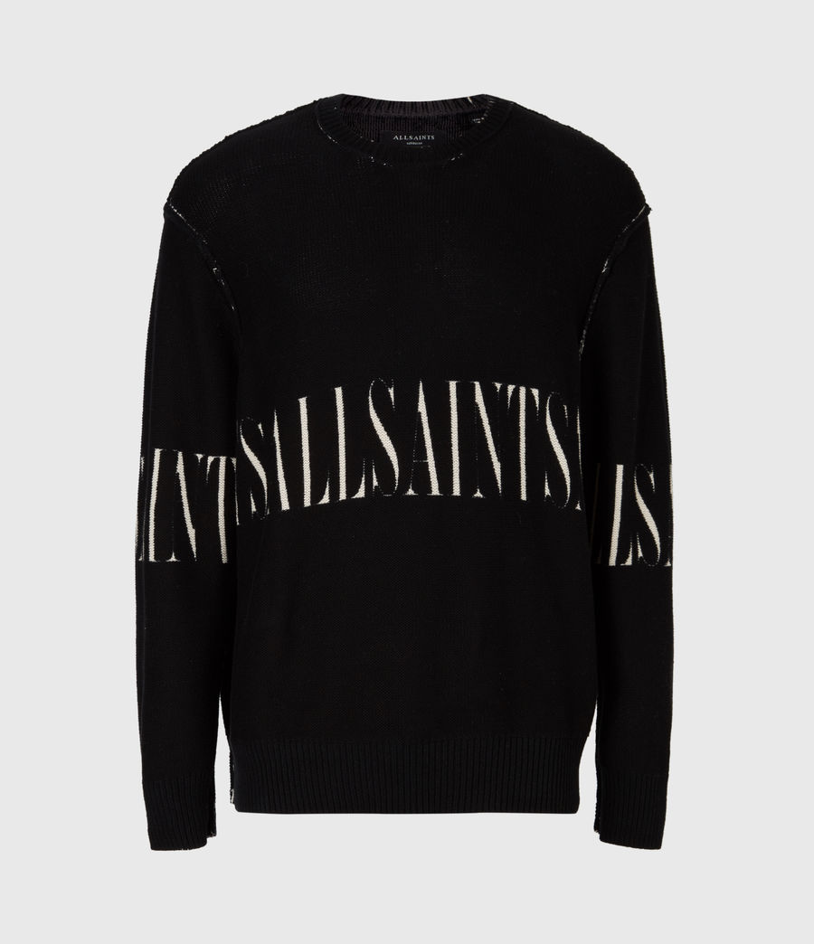 Men's Print Saints Reversible Crew Jumper (black) - Image 3