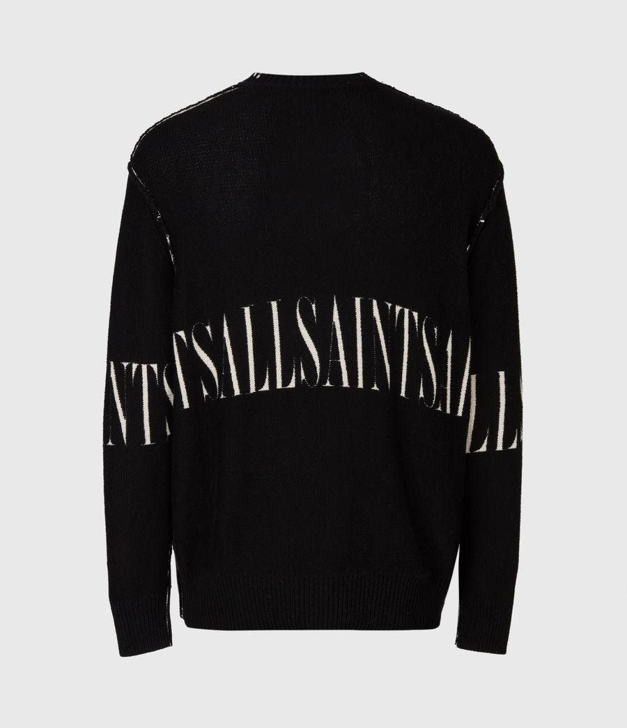 Mens Print Saints Reversible Crew Sweater (black) - Image 6