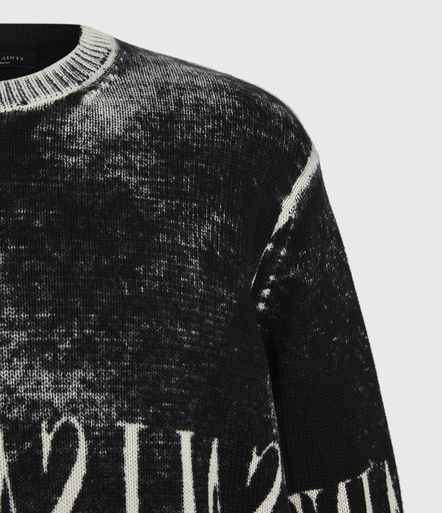 Herren Print Saints Rundhals Pullover (black) - Image 7
