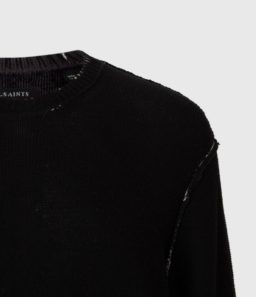 Herren Print Saints Rundhals Pullover (black) - Image 8