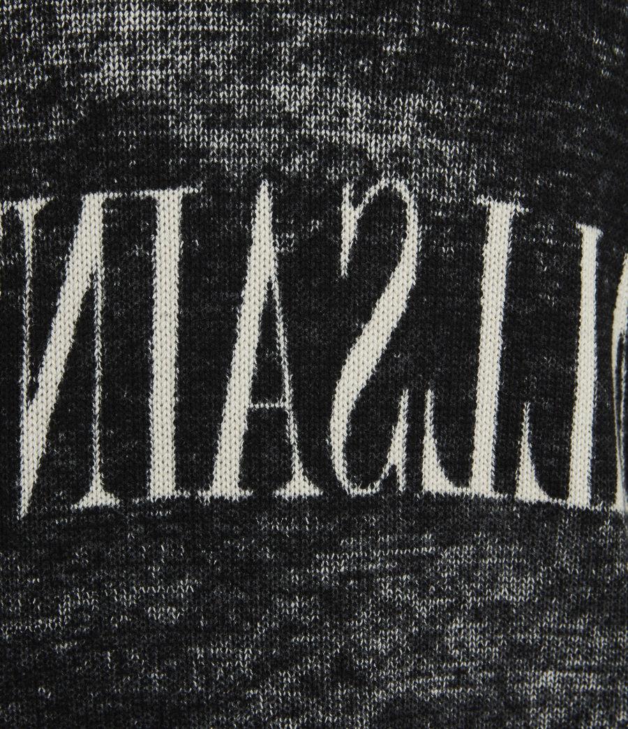 Mens Print Saints Reversible Crew Sweater (black) - Image 9