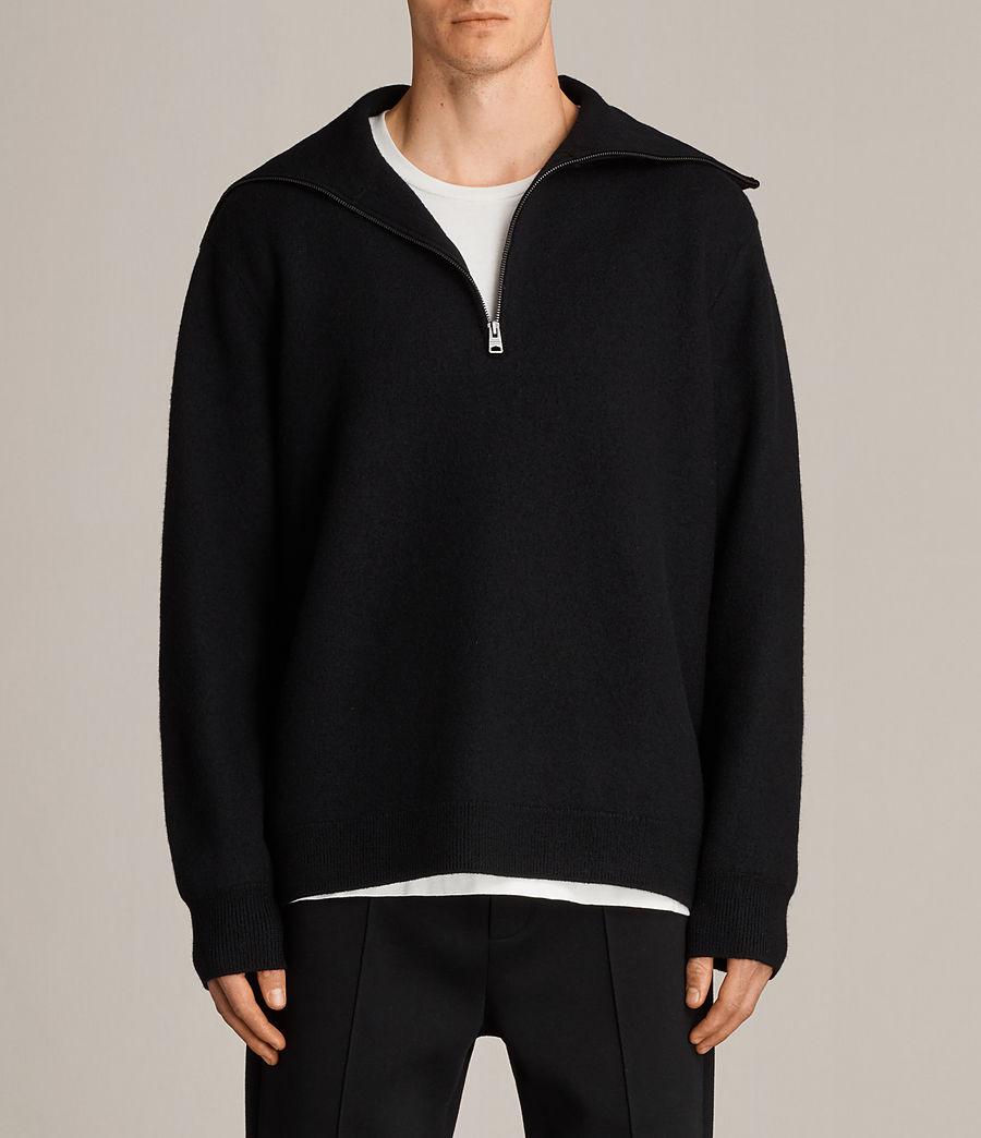 Herren Wregan Reißverschluss Pullover (black) - Image 1