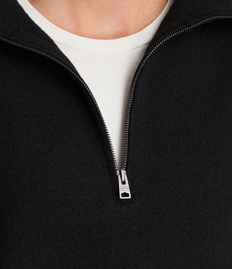 Herren Wregan Reißverschluss Pullover (black) - Image 2