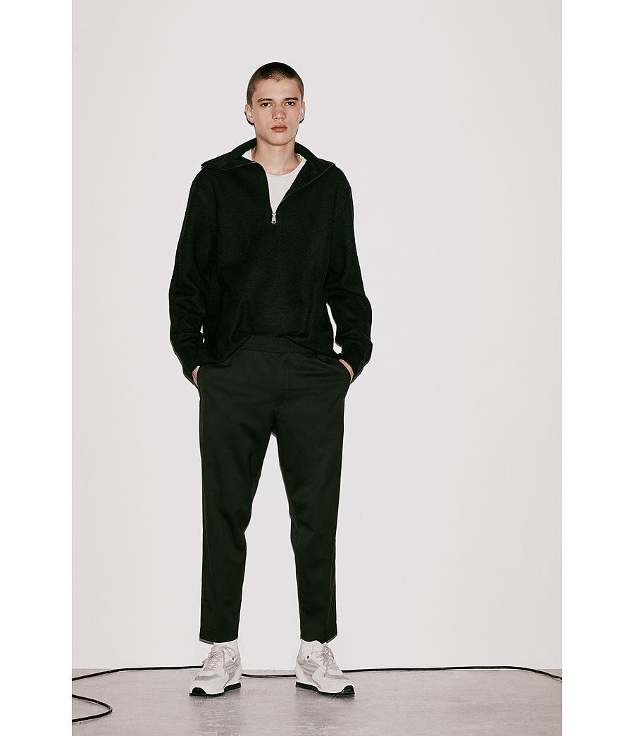 Herren Wregan Reißverschluss Pullover (black) - Image 5