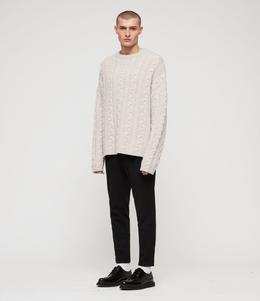 Mens Gable Crew Sweater (ecru_white) - Image 3