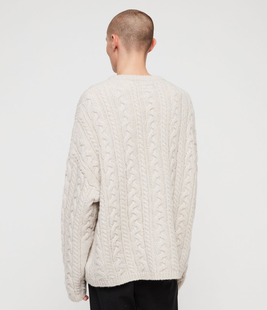 Mens Gable Crew Sweater (ecru_white) - Image 5