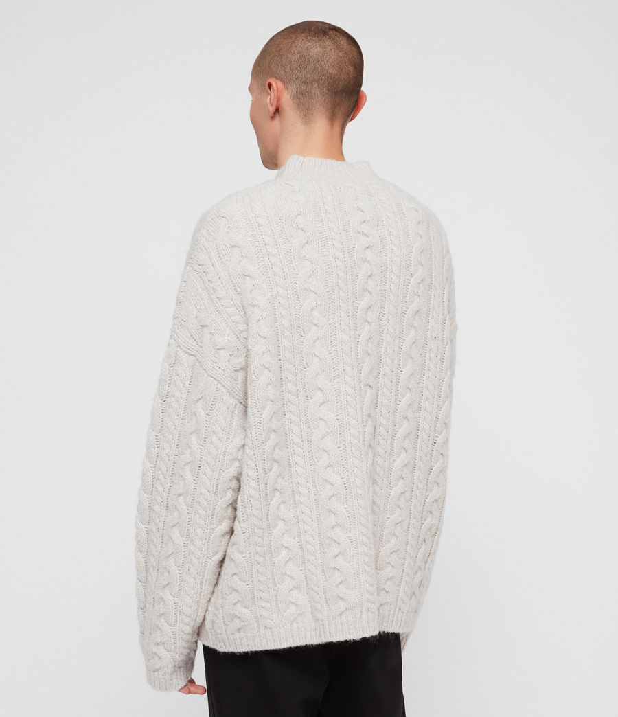 Mens Gable Crew Sweater (ecru_white) - Image 6