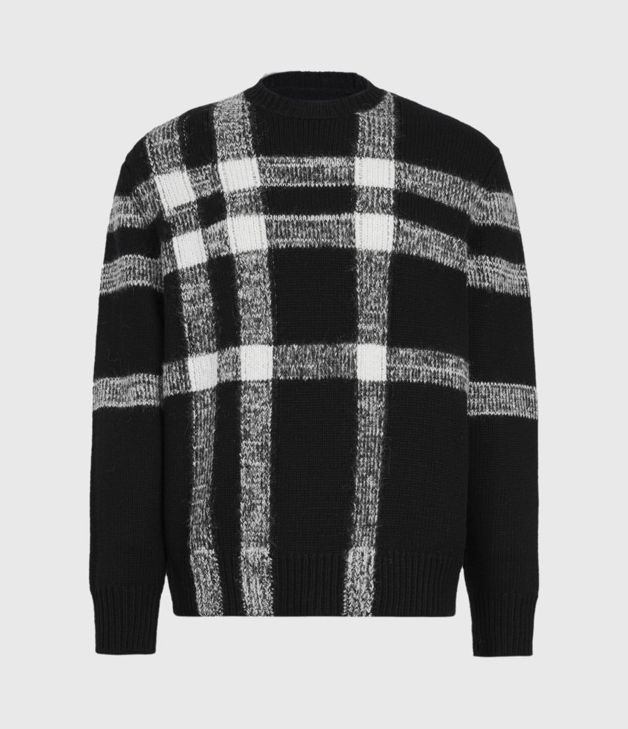 Mens Arkade Crew Sweater (black) - Image 2