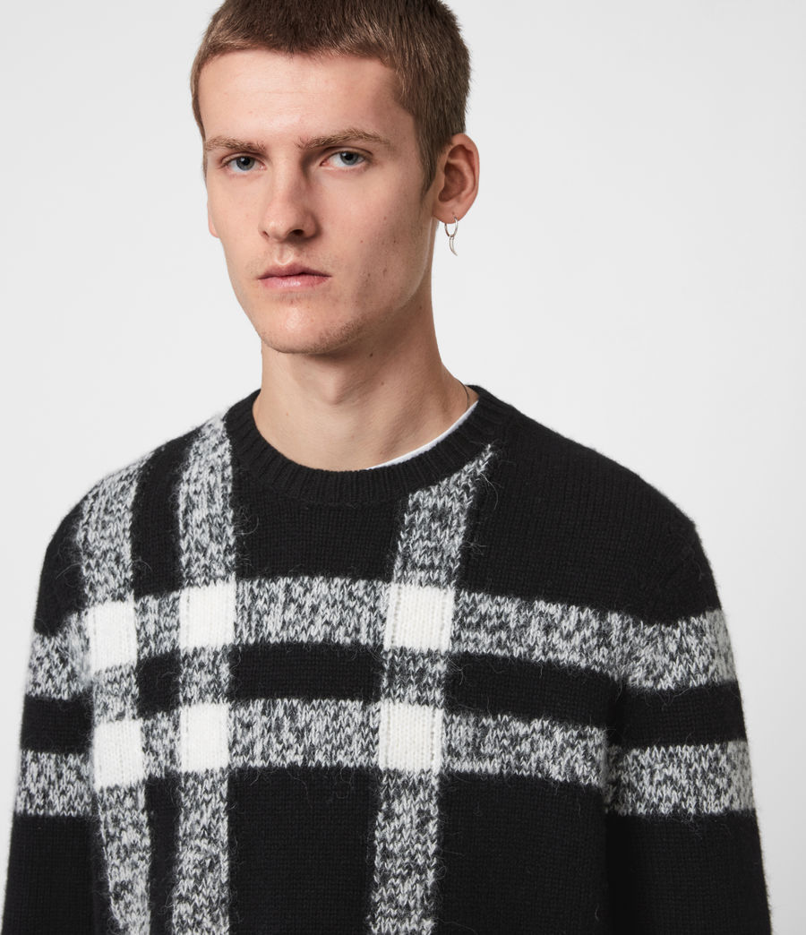 Mens Arkade Crew Sweater (black) - Image 4