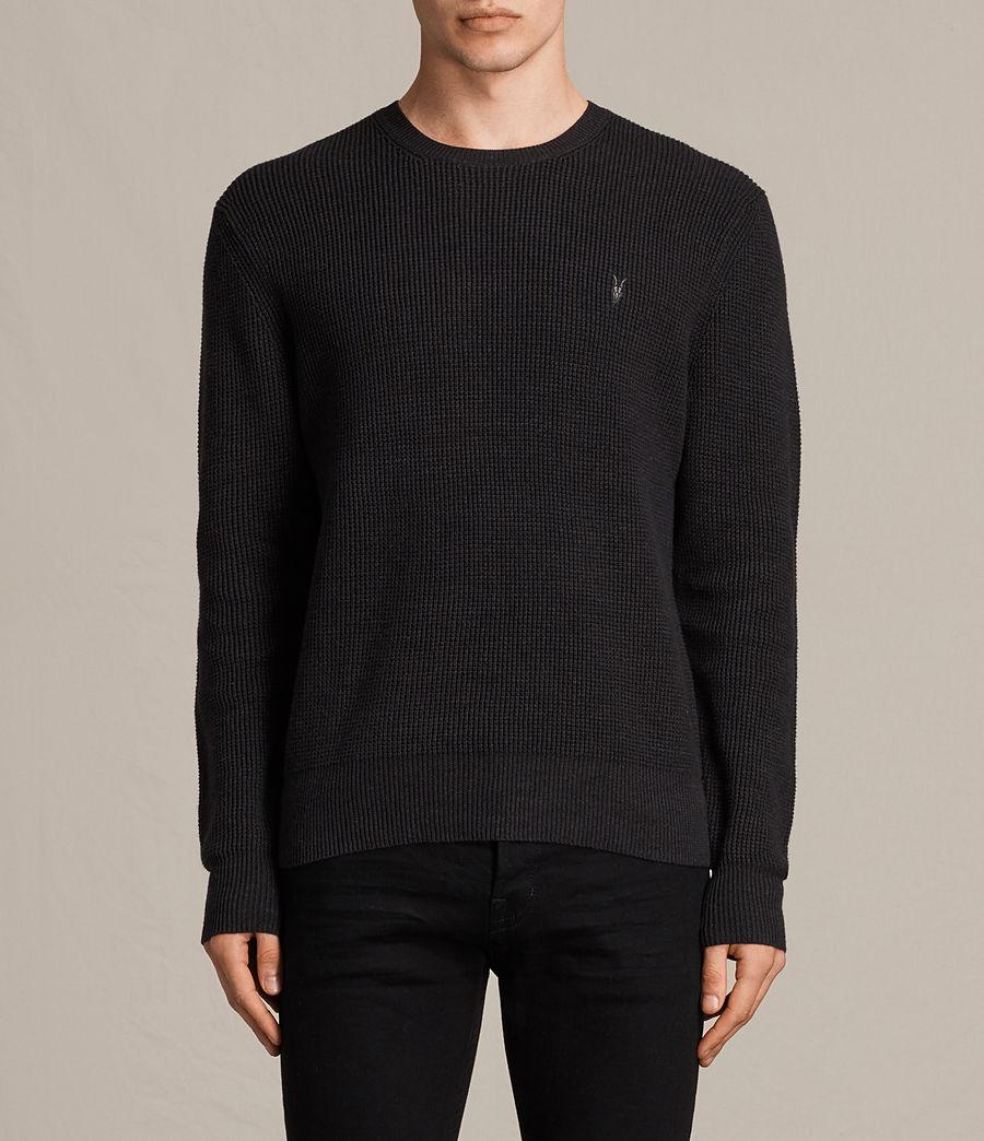 Mens Trias Crew Sweater (cinder_black_marl) - Image 1