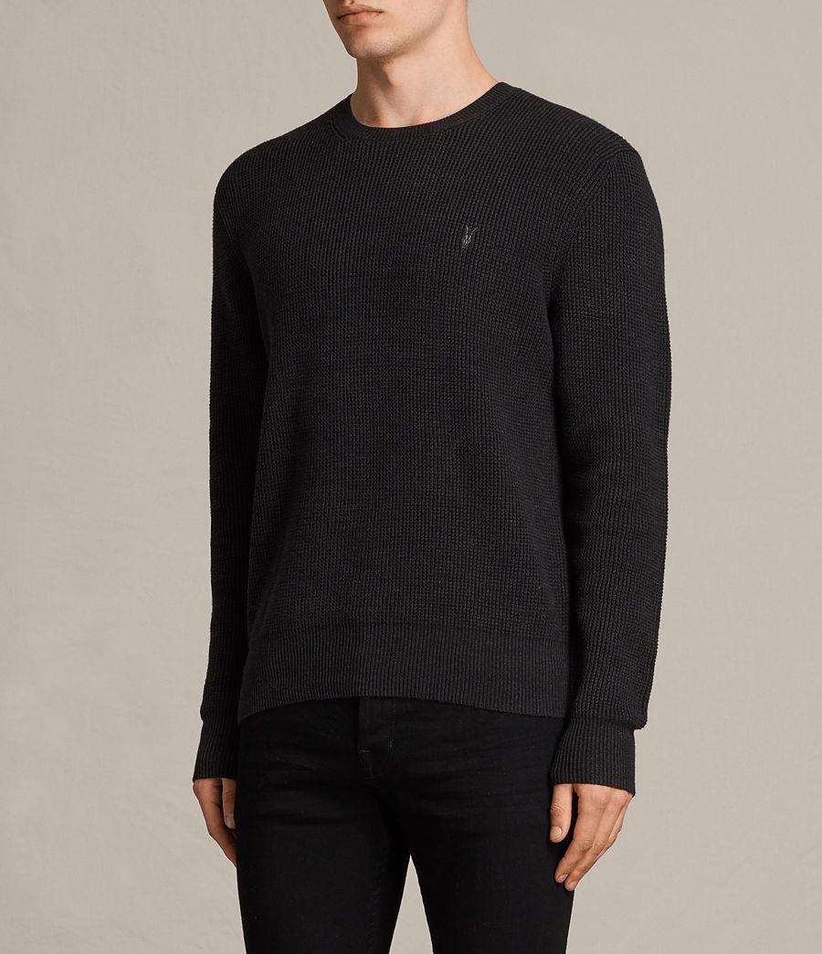 Mens Trias Crew Sweater (cinder_black_marl) - Image 2