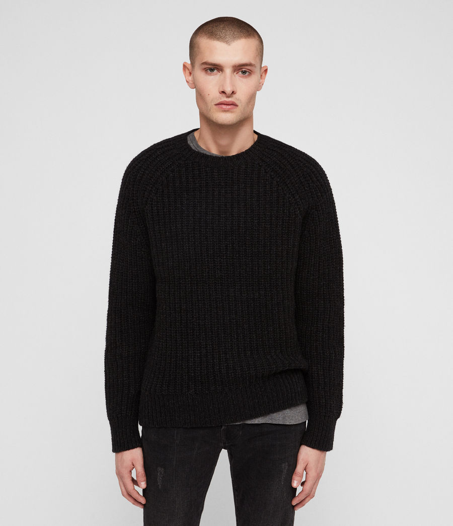 Mens Mast Crew Sweater (cinder_black_marl) - Image 1