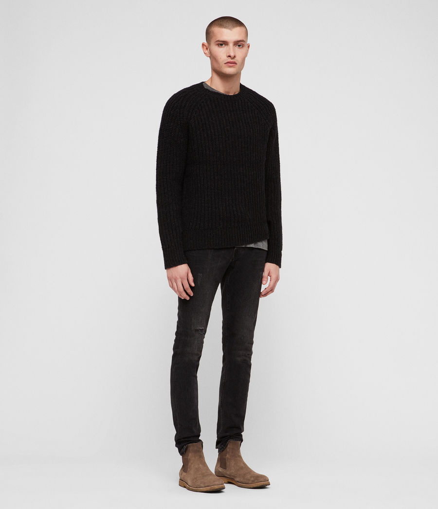 Mens Mast Crew Sweater (cinder_black_marl) - Image 3