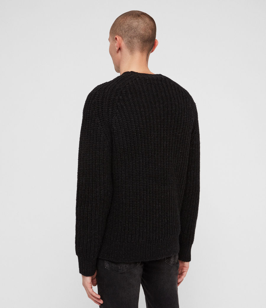 Mens Mast Crew Sweater (cinder_black_marl) - Image 4