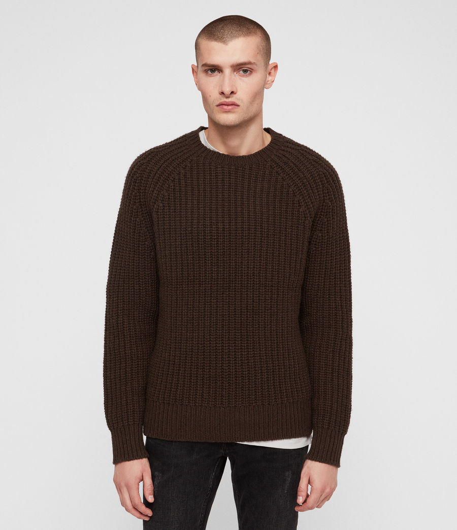 Mens Mast Crew Sweater (sandalwood_brown) - Image 1