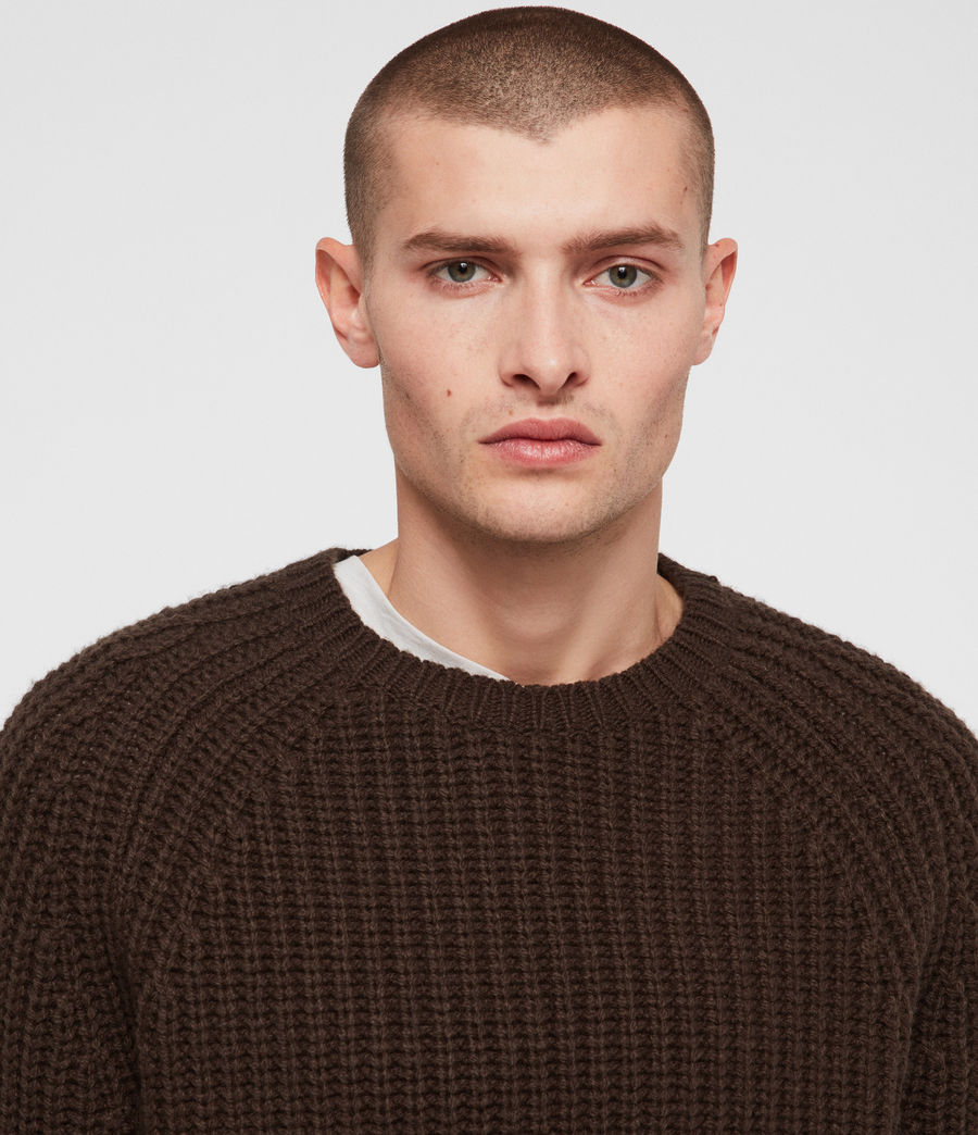 Mens Mast Crew Sweater (sandalwood_brown) - Image 2