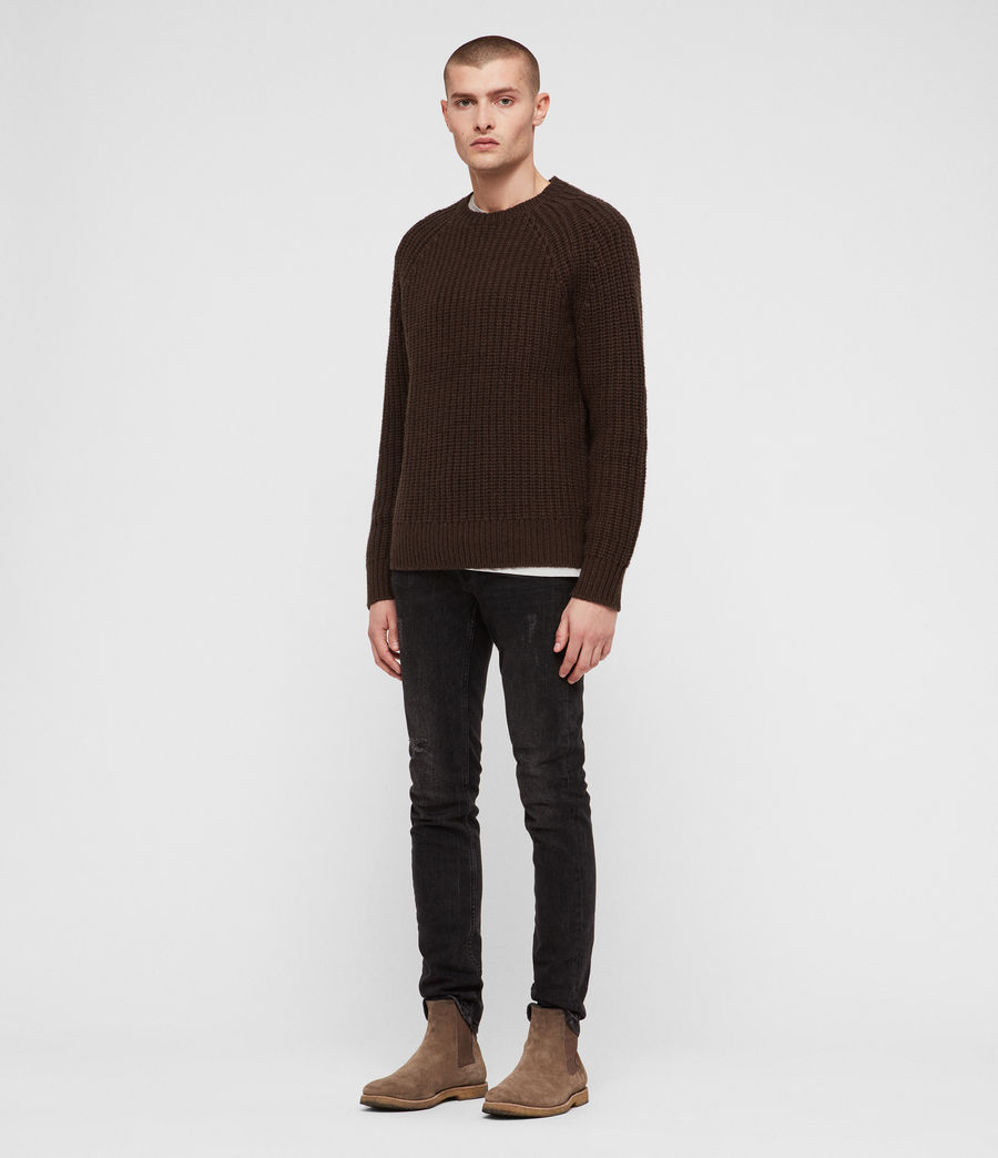 Men's Mast Crew Jumper (sandalwood_brown) - Image 3