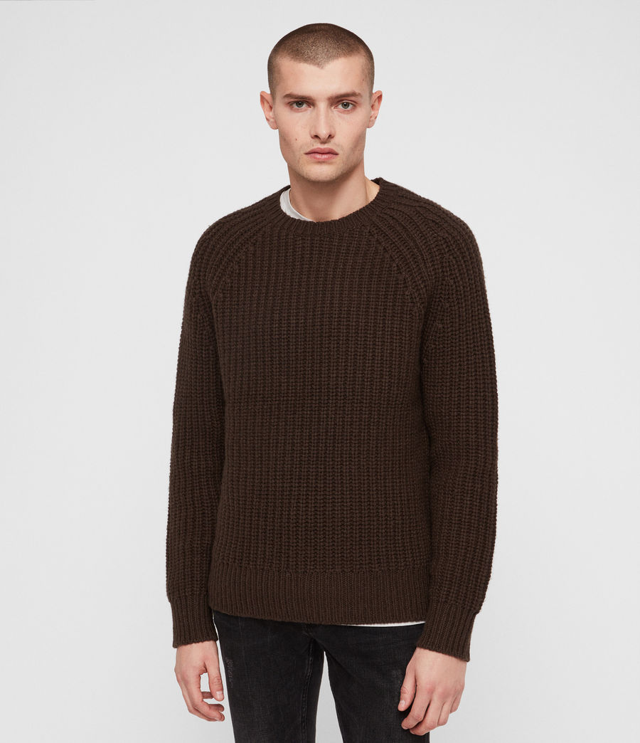Mens Mast Crew Sweater (sandalwood_brown) - Image 4
