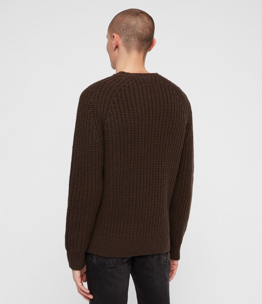 Mens Mast Crew Sweater (sandalwood_brown) - Image 5