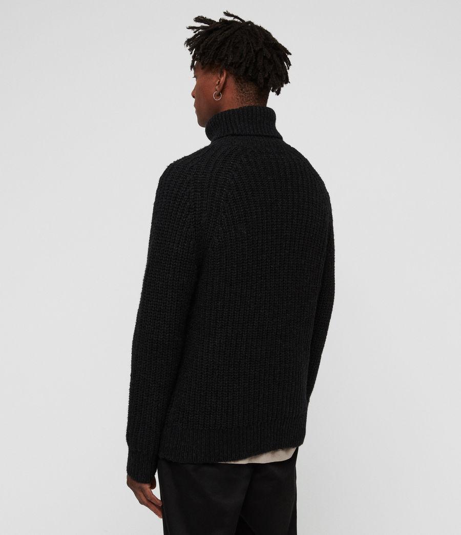 Hombres Jersey de Cuello Alto Mast (cinder_black_marl) - Image 5
