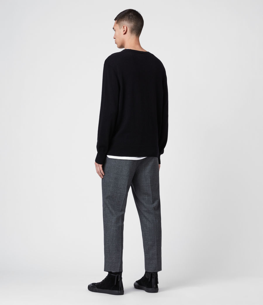 Men's Together Crew Jumper (black_ecru_charcl) - Image 5