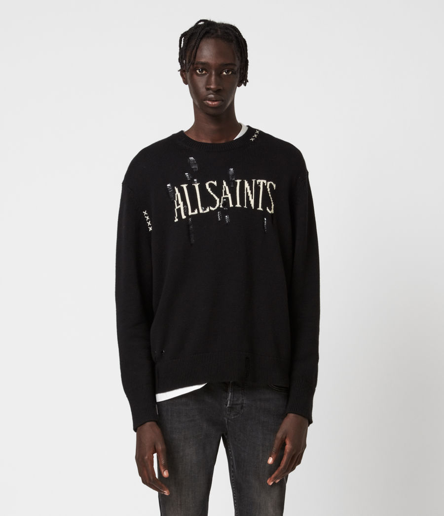 Men's Destroy Saints Crew Jumper (black) - Image 1