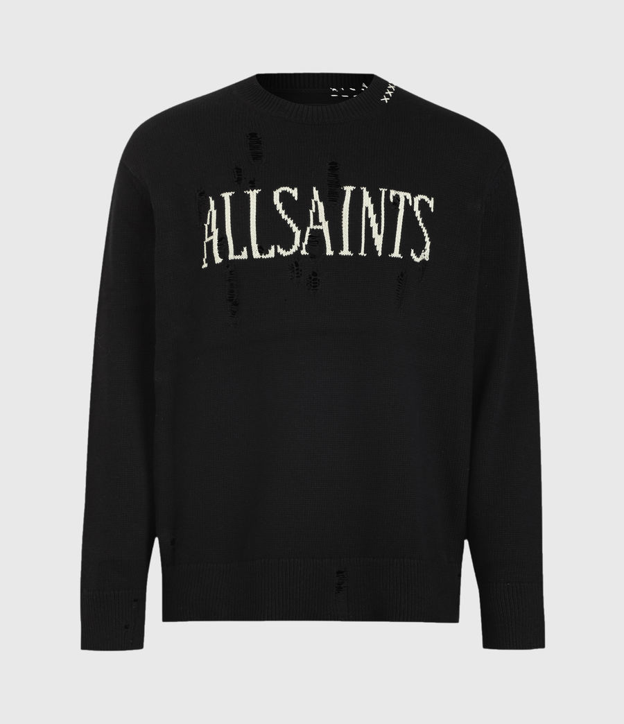 Mens Destroy Saints Crew Sweater (black) - Image 2