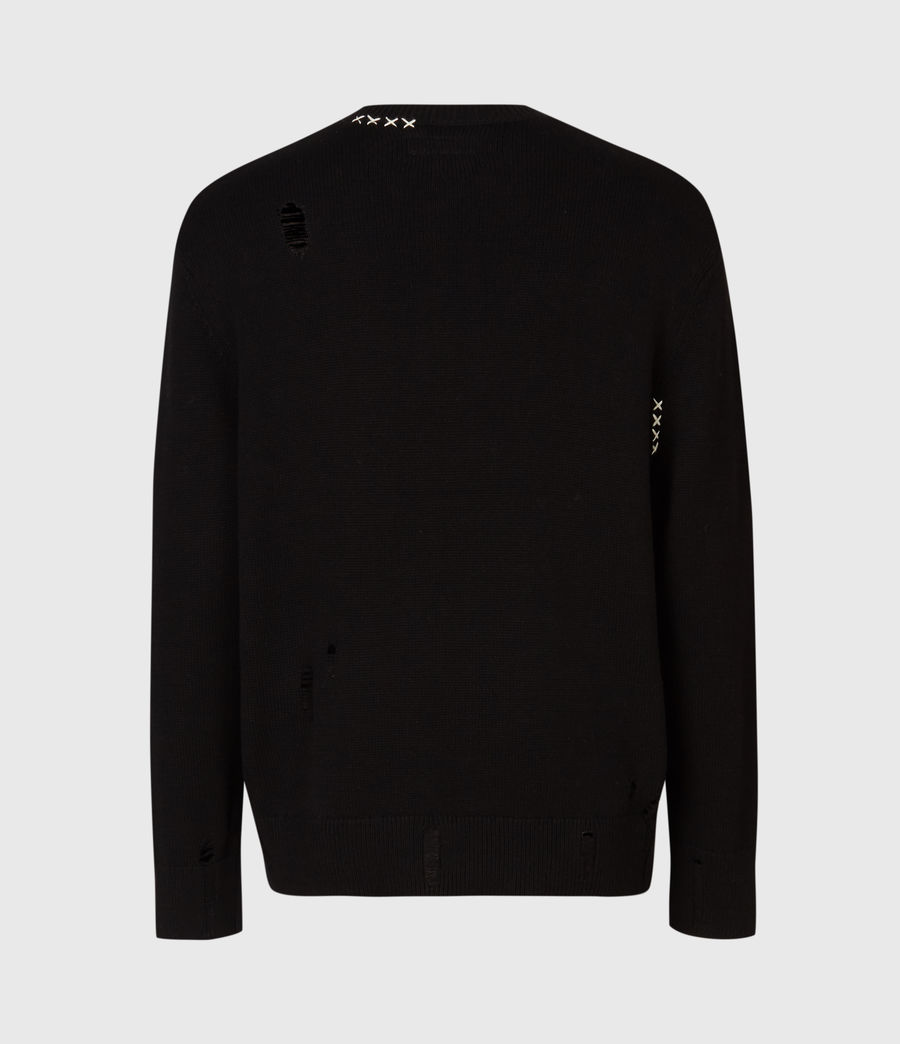 Mens Destroy Saints Crew Sweater (black) - Image 3