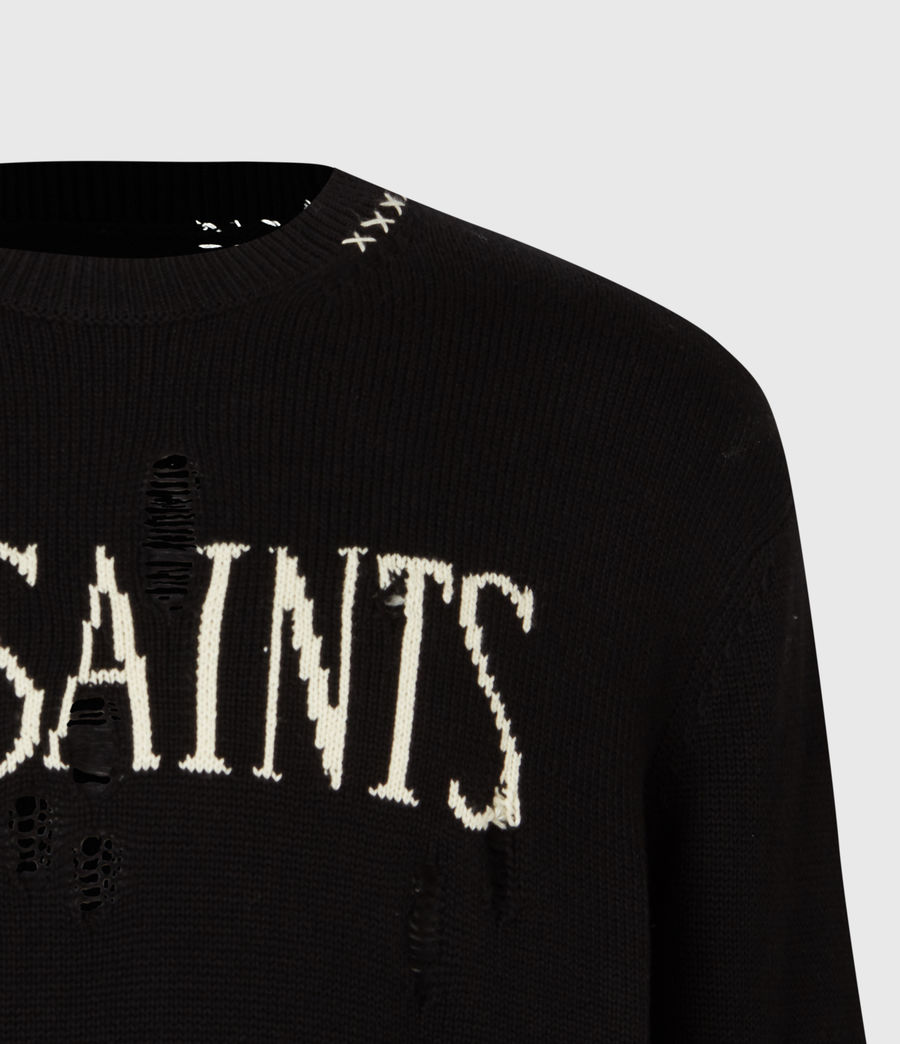 Mens Destroy Saints Crew Sweater (black) - Image 5