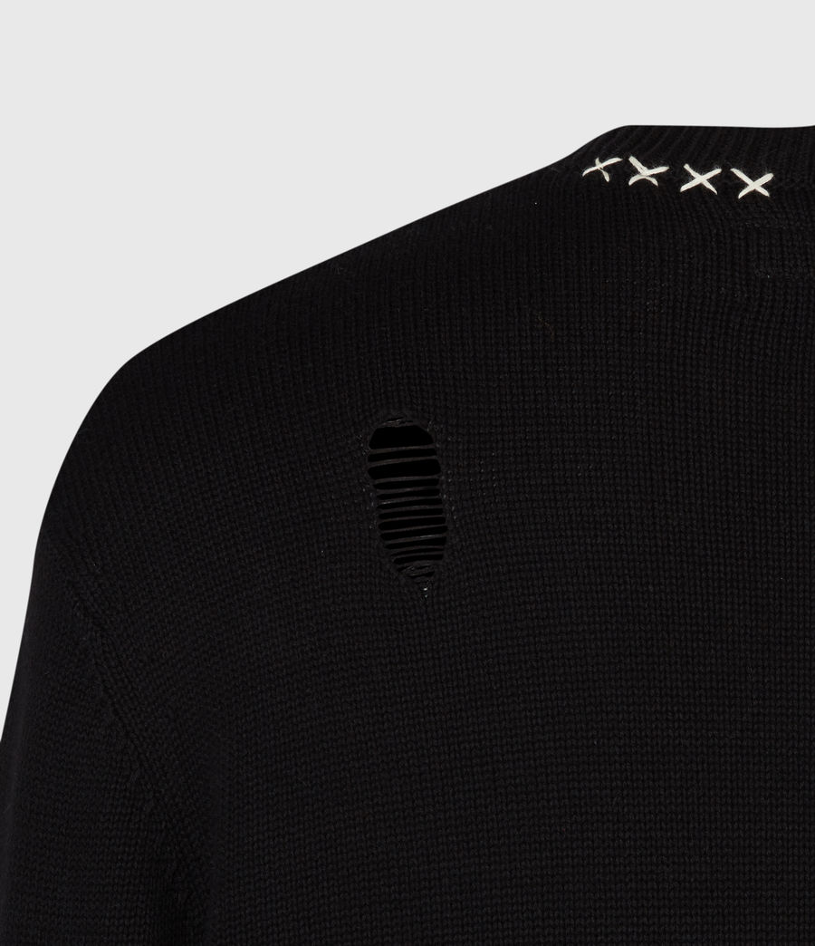 Mens Destroy Saints Crew Sweater (black) - Image 6