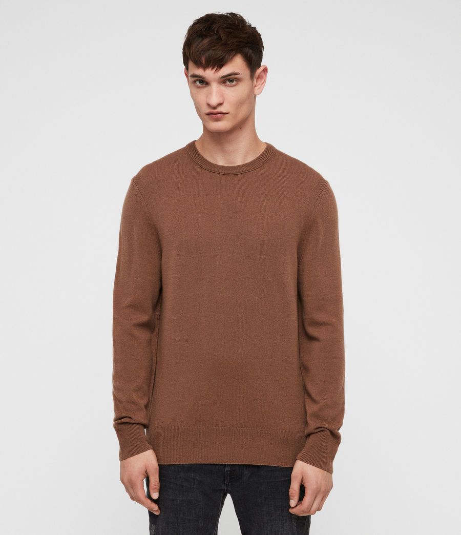 Men's Nova Crew Jumper (camel_brown) - Image 1