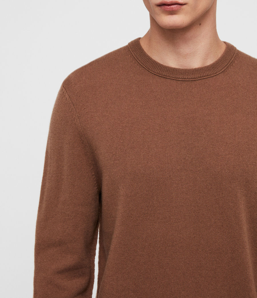 Mens Nova Crew Sweater (camel_brown) - Image 2