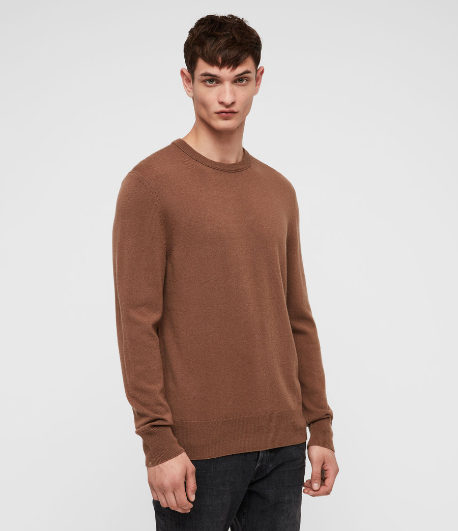 Mens Nova Crew Sweater (camel_brown) - Image 3